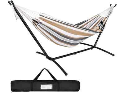 ZENY Double Hammock with Space-Saving Steel Hammock Stand